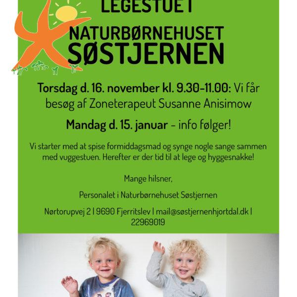 Legestue for alle i Naturbørnehuset Søstjernen