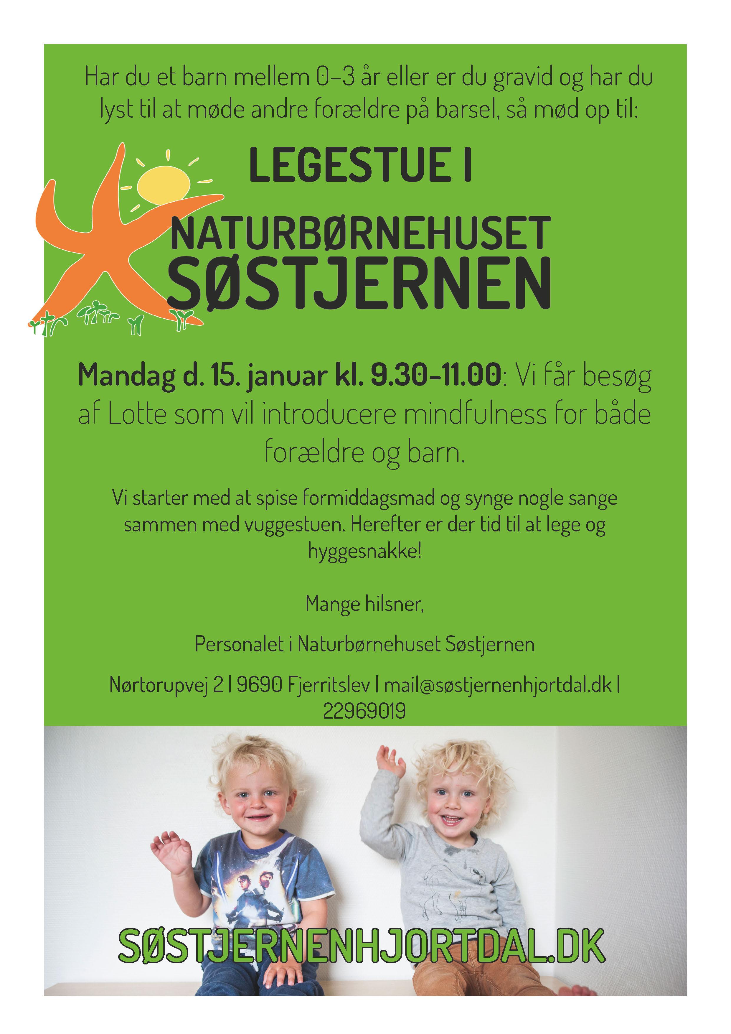Legestue for forældre på barsel i Naturbørnehuset Søstjernen i Nordjylland.